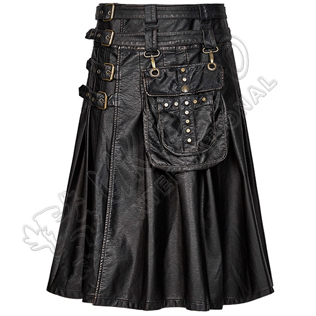 layers and Texture Dress Richer Utility Kilts 4 straps and buckles
