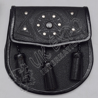 Graint Leather Embossed Sporran
