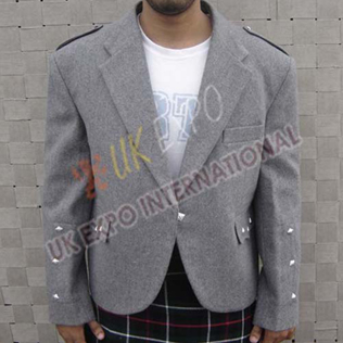 Gray Argyle Jacket Simple