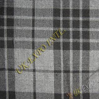 Gray Black Grey Watch Tartan No 24 - 71