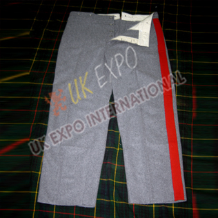 Gray Color Wool Trouser With red Strip