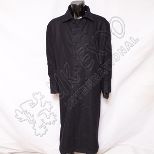 Great Coat with Double Brest Black Color