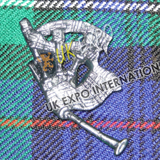 Great Highland Bagpipe Badge