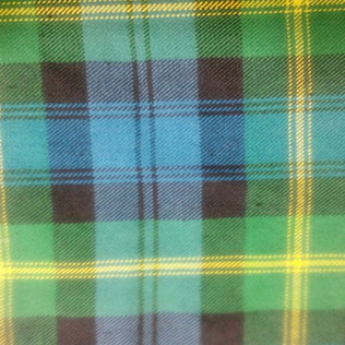 Green,Black,yellow and blue color Tartan
