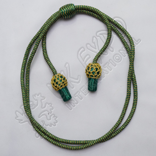 Green and Golden hat Cord