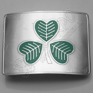 Green Irish Shamrock SS Buckle