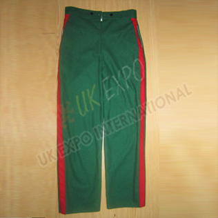 Green Trouser with Red Strip and 2 side pockets