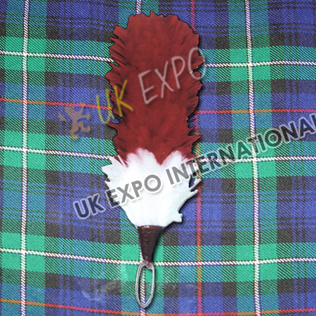 Hackle Color Red and White