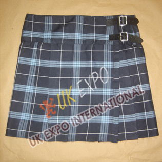 Half Pleated and Front Apron School Kilt