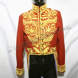 Hand Made Embroidery British court Levee Jacket