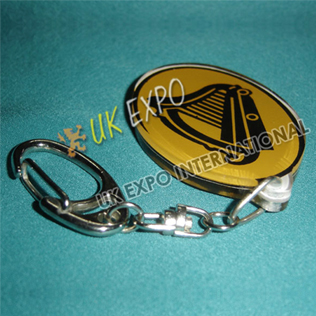 Harp Double Side Printed Key Chian