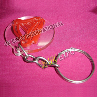 Harp Plastic Key Chain
