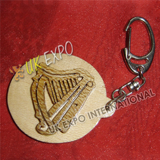 Harp Wooden Key Chain