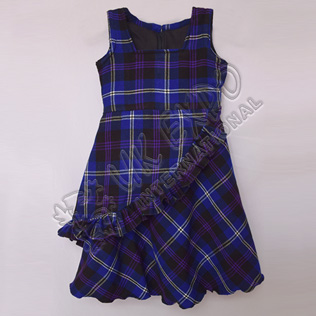 Heritage Of Scotland Tartan Sleeve less Stylish Full Skirt For 4 Year Old
