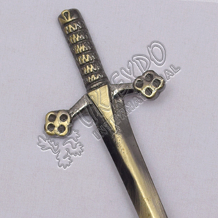 Highland Scottish Sword Brass Antique Kilt Pin