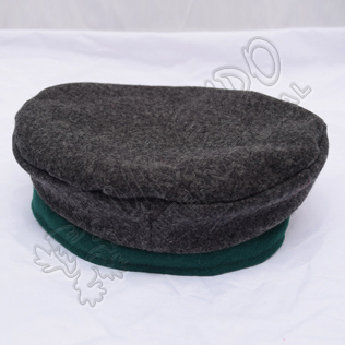 Historical Dark Gray and Green Balmoral Hat