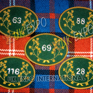 Irish Wreath Patches