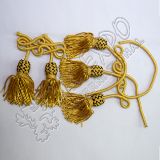 Joint tassels for Regimental sporran Gold and Black