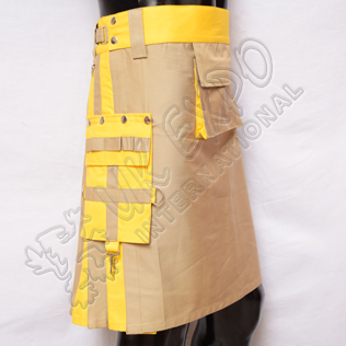 Khaki and Yellow Hybrid Two-Tone Utility Kilts