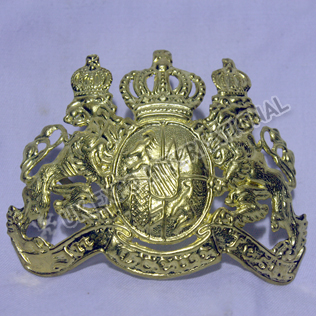 Kingdom of Bavaria Officer Helmet Plate