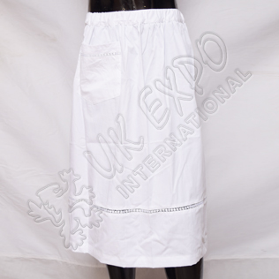 Ladies Apron with lace and pocket