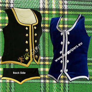 Ladies Highland Dance Vest Velvet