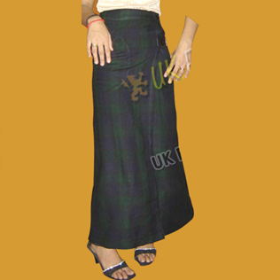 Ladies Long tartan Skirt