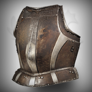 Ladies Medieval Armor Brown with Silver