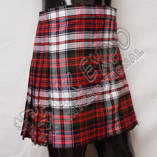 Ladies Mini Kilted Skirt 3 Buckles Closing