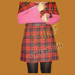Ladies Mini Kilted Skirt
