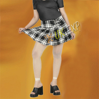 Ladies Tartan Billie Skirts belt 2 Buckles and Velcro Closing