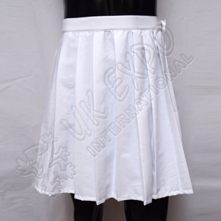 Ladies White Color Skirt With Zip Closing