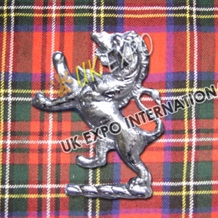 Large Lion Metal Badge