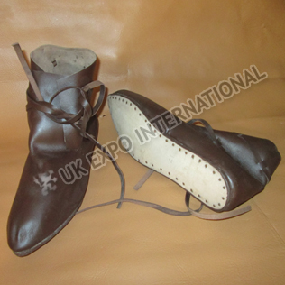 Leather laces Brown Jorvik Viking medieval Shoes
