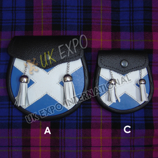 Leather Scottish Sporrans for Child and Baby Sporran
