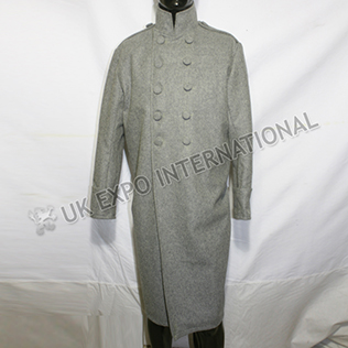 Light Gray Great Coat Desperta Ferro