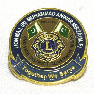 Lions Club Metal Pin