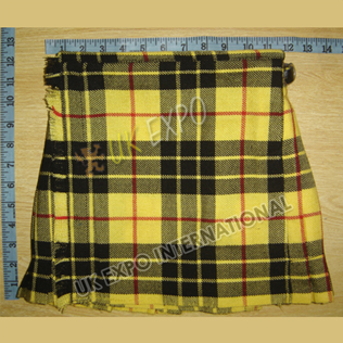 Macleod Dress Tartan baby kilt 2 Buckle Closing