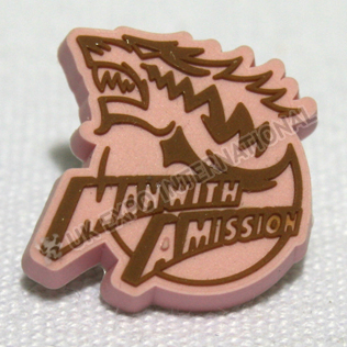 Man With Amission Rubber Pin