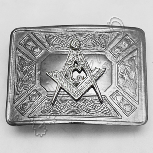 Masonic Celtic Design Buckle