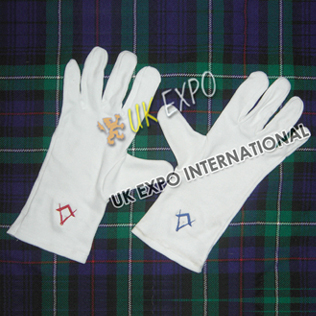 Masonic Cotton Gloves