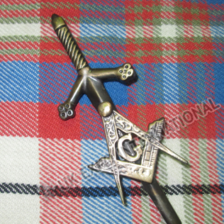 Masonic Kilt Pin Brass Antique