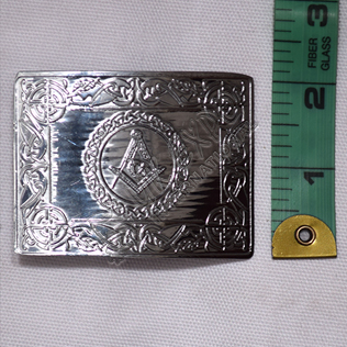 Masonic with Celtic Chain Chrome Plated Baby Buckle