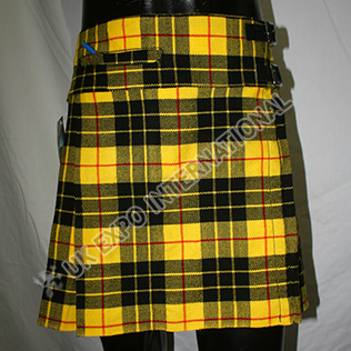 McLeod tartan Ladies Billie kilt with front pocket