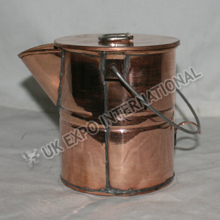 med Coffee Boiler Pot made in Copper