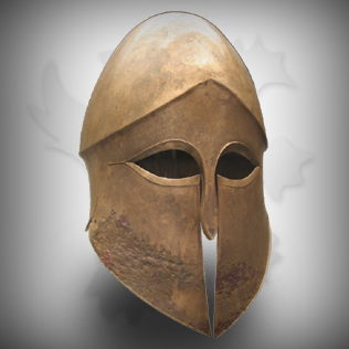 Medieval Brass Head Armor Helmet For Warriors