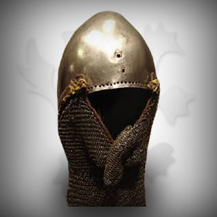Medieval Head Armor Helmet For Warriors With Chains