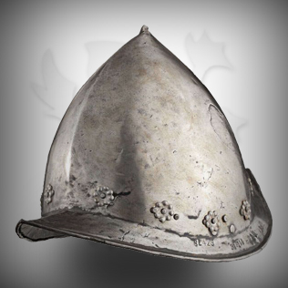Medieval Head Armor in Silver Antique