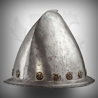Medieval Head Armor in Silver