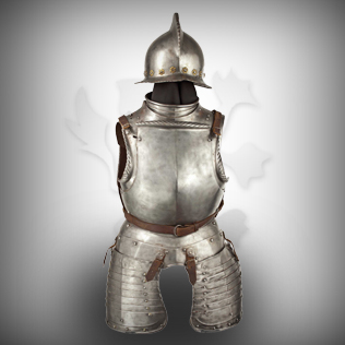 Medieval Knight Body Armor with Helmet 1580